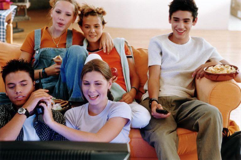 Teens-Watching-Movie